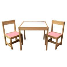 Kualitas Benedetto Meja Set 2 Kursi Anak Pink Benedetto