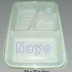 Bento mika bintang (50pcs)/Tray bento 4 sekat/Lunch box