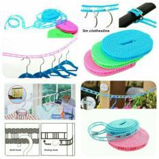 Tali Jemuran Praktis 5 Meter Clothes Line Laundry Serbaguna / Baju Handuk HangerIDR10999. Rp 12.000