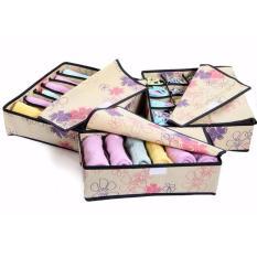 Beli Best 3 In 1 Underwear Bra Socks Organizer Panty Kaos Kaki Celana Dalam 3In1 Bunga Cicilan