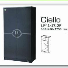 Best Ciello Lemari Pakaian Minimalis 2 Pintu uk.80x170cm - Hitam