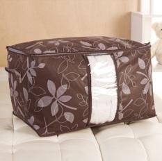 BEST Cloth Organizer Motif Bunga/Tempat Baju/Storage Bag Simpan Penyimpanan - COKLAT
