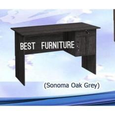 Best Furniture Gold MT120 Meja Kantor Meja Kerja Meja Multifungsi Dengan Laci uk 120x72cm - Hitam Abu