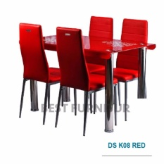 Best IMP-DSK08 Meja Makan Minimalis uk 120x70 - Red d5b9a9967a