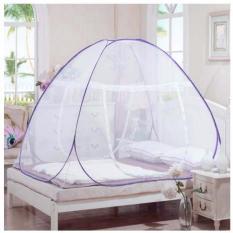 BEST Kelambu Tenda/ Tudung Kanopi Kasur Ranjang Anti Nyamuk 180 x 200CM Bisa untuk Camping - LIST UNGU
