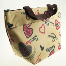 Beli Best Lunch Bag Thermal Fashionable Tas Bekal Tas Makanan Tas Jinjing Cream Heart Seken