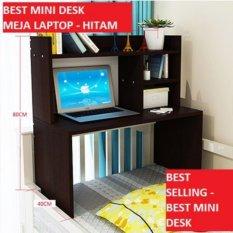 Harga Best Mini Desk Meja Laptop Lesehan Belajar Dan Rak Multifungsi Hitam Best Ori