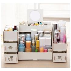 Harga Best Rak Kayu 028 Kosmetik Jewelery Cosmetic Storage Stationary Organizer Putih Indonesia