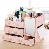 Review Best Rak Kayu Kosmetik 058 Cermin Tissue Diy Cosmetic Storage Organizer Pink Camelia Best Di Indonesia