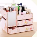 Toko Best Rak Kayu Kosmetik 058 Cermin Tissue Diy Cosmetic Storage Organizer Pink Flower Yang Bisa Kredit