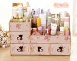 Harga Best Rak Kayu Kosmetik 213 Catty Cosmetic Stationary Alat Tulis Organizer Pink Camelia Best Original