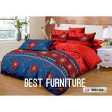 Harga Best Red Bbss385 Bedcover Set Selimut Dan Seprai Uk 180X200 Red