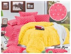 BEST SELLER!! Bedcover Romeo Polkadot ukuran 180 x 200 - Pink Roseseprai kintakun / seprai bonita / seprai my love / seprai polos / seprai murah / seprai rumbai / seprai california / seprai karakter