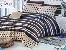 BEST SELLER!! Bedcover Romeo ukuran 120 x 200 / Extra Single / No.3 - Cappucinoseprai kintakun / seprai bonita / seprai my love / seprai polos / seprai murah / seprai rumbai / seprai california / seprai karakter