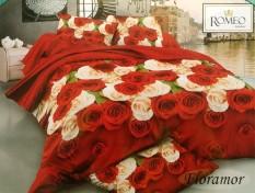 BEST SELLER!! Bedcover Romeo ukuran 120 x 200 / Extra Single / No.3 - Floramorseprai kintakun / seprai bonita / seprai my love / seprai polos / seprai murah / seprai rumbai / seprai california / seprai karakter