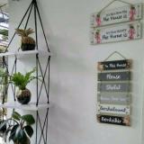 Harga Best Seller Rak Dinding 3 Susun Putih Tali Hitam Silang Dki Jakarta