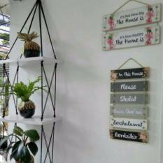 Berapa Harga Best Seller Rak Dinding 3 Susun Putih Tali Hitam Silang Di Dki Jakarta