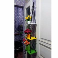 [2000 gram] saMju (BEST SELLER) Rak Dinding Gantung Minimalis 3 Susun Model Kotak CUSTOM