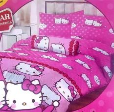 BEST SELLER!! Sprei Lady Rose Disperse 160 - Hello Kitty & Daniel Pinkseprai kintakun / seprai bonita / seprai my love / seprai polos / seprai murah / seprai rumbai / seprai california / seprai karakter