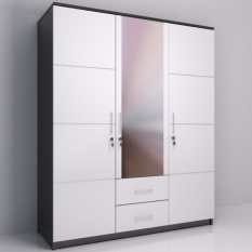 Best Whitty Lemari Pakaian 3 Pintu Minimalis Uk 120x180 - Putih By Best Furniture.
