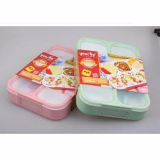 Katalog Best Yooyee 578 Lunch Box Grid Bento Kotak Bekal Makan Kotak Makan Lunchbox Yoo Yee 4 Selat Anti Bocor Tumpah Hijau Best Terbaru