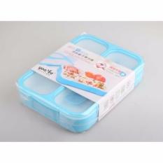 Spesifikasi Best Yooyee 579 Lunch Box Grid Bento Kotak Makan Bpa Free Micorwavable Anti Bocor Tumpah Biru Best