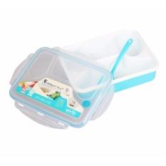 Harga Best Yooyee Lunch Box 4 Sekat Bento 367 Kotak Bekal Makan Kotak Makan Lunchbox Yoo Yee Biru Jawa Barat