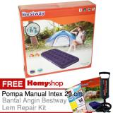 Promo Homyshop Bestway 67000 Kasur Angin Kasur Tiup Ukuran Single 76Cm X 185Cm X 22Cm Berkualitas Free Pompa Manual Intex Bantal Kepala Dan Lem Repair Kit Murah