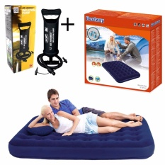 Bestway Air Bed Double Matras + Pompa Tangan 12 Inch Paket Kasur Angin & Pompa