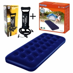 Bestway Air Bed Single Matras + Pompa Tangan 12 Inch Paket Kasur Angin & Pompa