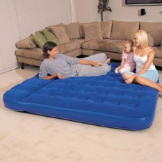 Bestway Air Bed Size King Matras (Biru) Kasur Tidur Pompa Angin 203cm x 183cm x 22cm
