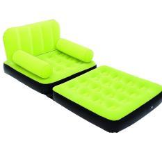 Bestway Inflatable 2 in 1 Single Sofa Bed (Hijau) Kasur Ranjang Sofa Angin 67277