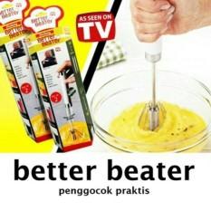 Better Beater Hand Mixer Isi 2Pc Alat Pengaduk Adonan Kue (Manual) - Rnlvug