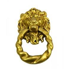 BHARAT HAAT Pure Brass Metal Lion Face Door Knocker - intl