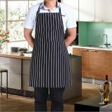 Jual Oto Apron Dengan 2 Saku Juru Masak Pelayan Bbq Restaurant Home Kitchen Memasak Apron Tool Hitam Putih Stripe Intl Import