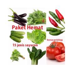 Bibit Bunga Paket Hemat 15 Jenis Benih Sayuran (Bonus Polybag)