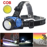 Spesifikasi Sepeda Sepeda Cob Led Lampu Depan Ikut Riding Cycling Head Light Lampu Intl