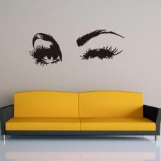 Big Eye Lashes Wink Wall Stiker Mata Indah Wallpaper Dekorasi Vinyl Decal Sticker Dekorasi Kamar Tidur-Intl