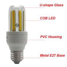 Big Family E27 LED Bulb COB U Shape Energy Saving Corn Light Lamp AC 85-265V Bright