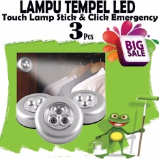 BIG Sale !! Harga Murah 3Pcs Lampu Led Tempel / Touch Lamp Stick / Lampu Led Lemari Baju / Gudang / Lampu Belajar - Lampu Tempel LED - Touch Lamp Stick n Click Emergency