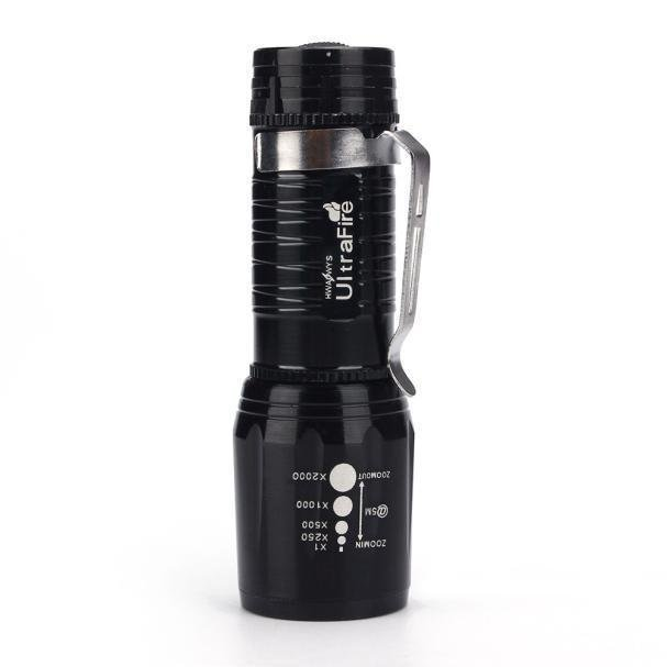 Ulasan Bigskyie Ultrafire 2200 Lumens Cree Xm L T6 Led Senter Tinggi Power Torch Light Zoom Hitam Gratis Pengiriman