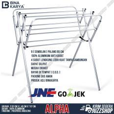 BINAKARYA Jemuran Aluminium Mini Alpha 80cm