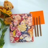 Jual Binder Printing Flower G*rl B5 26 Ring Crable Stationery Satu Set