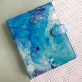 Miliki Segera Binder Printing Marble Blue A5 20 Ring Crable Stationery