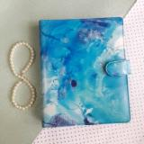 Harga Hemat Binder Printing Marble Blue B5 26 Ring Crable Stationery