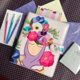 Spesifikasi Binder Printing Mruslimah Flowe A5 20 Ring Crable Stationery Crable Stationery Terbaru