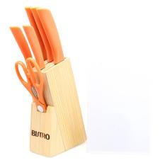 Toko Bistro Pisau Stainless Steel Set Oranye 8 Buah Talenan Online Terpercaya