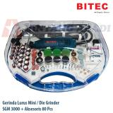Jual Bitec Mini Die Grinder Elektrik Set 80 Pcs Dengan Box Gerinda Mini Lurus Sgm 3000 Sgm3000