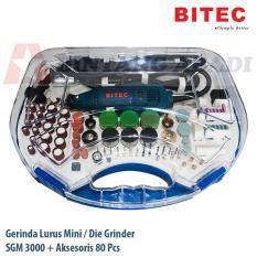 Jual Bitec Mini Die Grinder Elektrik Set 80 Pcs Dengan Box Gerinda Mini Lurus Sgm 3000 Sgm3000 Murah
