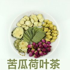 Bitter Melon Lotus Daun Teh, Mawar Lotus Daun Teh, Roselle Kombinasi Bunga Teh Kesehatan (15 Sachet) -Internasional